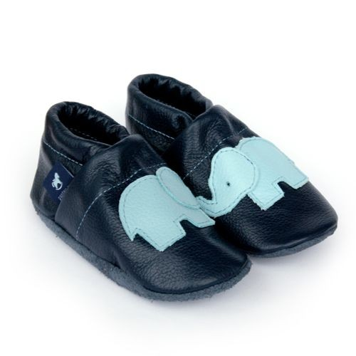 Pantau Leder Krabbelschuhe Lederpuschen Babyschuhe Lauflernschuhe mit Elefant, 100% Leder, 30 EU