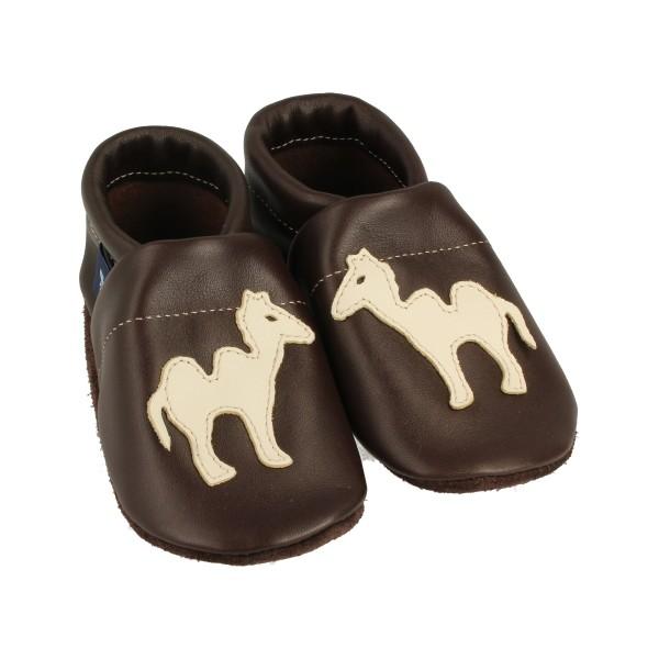 Krabbelschuhe & Lederpuschen Kamel