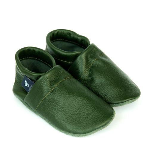 Krabbelschuhe & Lederpuschen Uni Grün