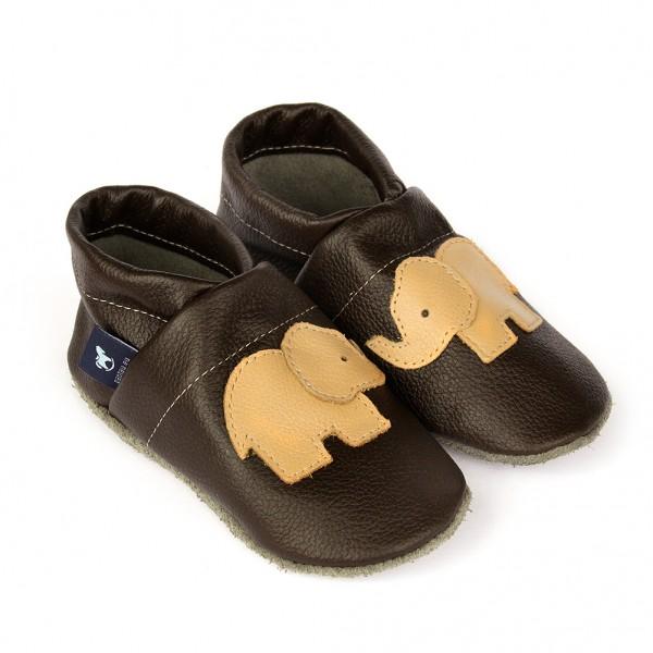Krabbelschuhe & Lederpuschen Elefant